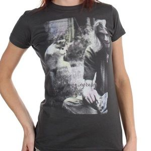 Tops - Kurt Cobain cat tee